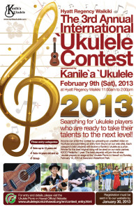 2013 International Ukulele Contest Poster